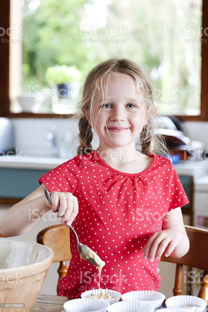 Making cakes royalty-free stock photo