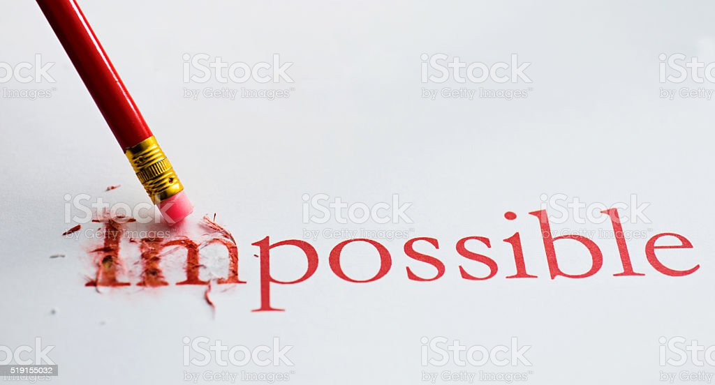 Making chang of impossible stock photo