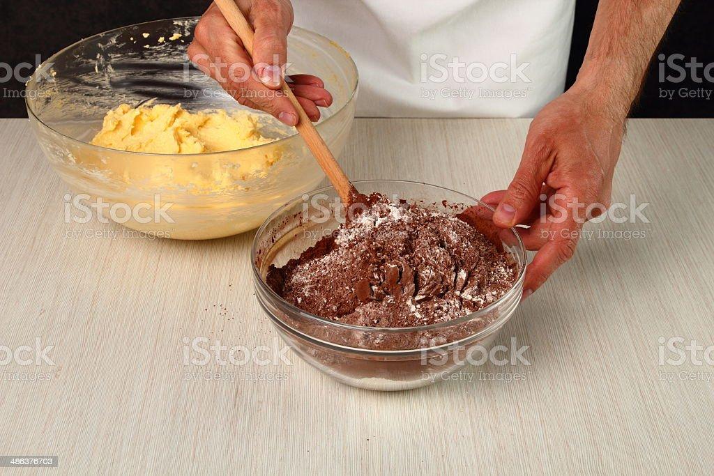 Making Chocolate Cookies royalty-free stock photo