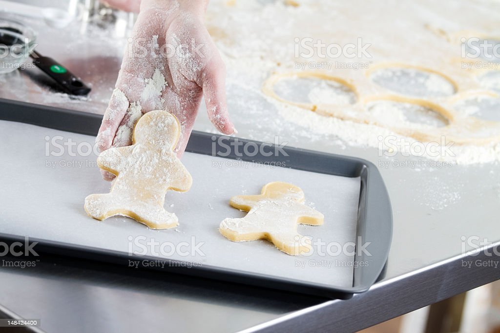 Making Christmas and Holiday Cookies royalty-free stock photo
