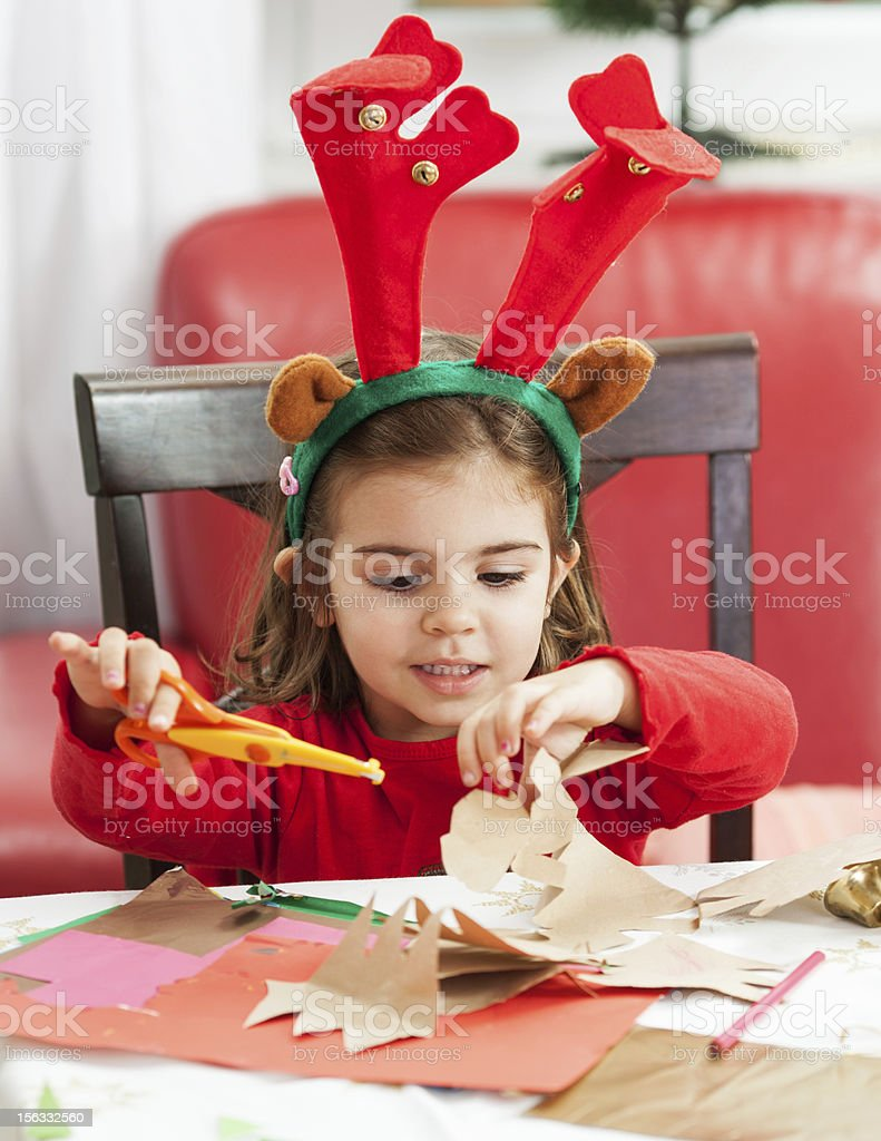 Making Christmas cards and decoration royalty-free stock photo