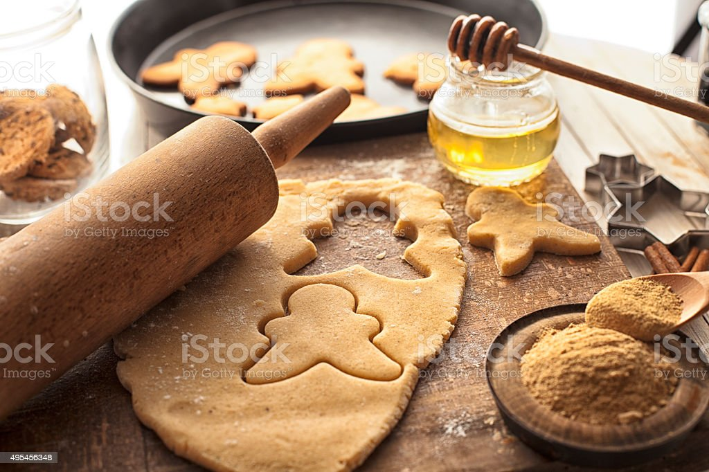 Making Christmas Cookies stock photo