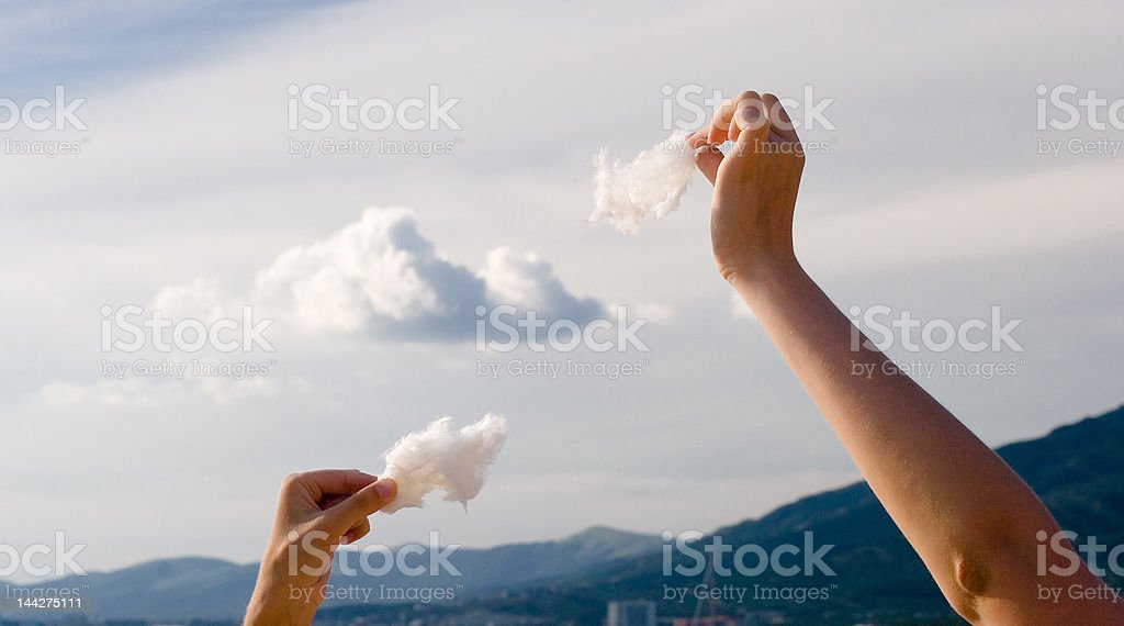 making clouds from the cotton royalty-free stock photo