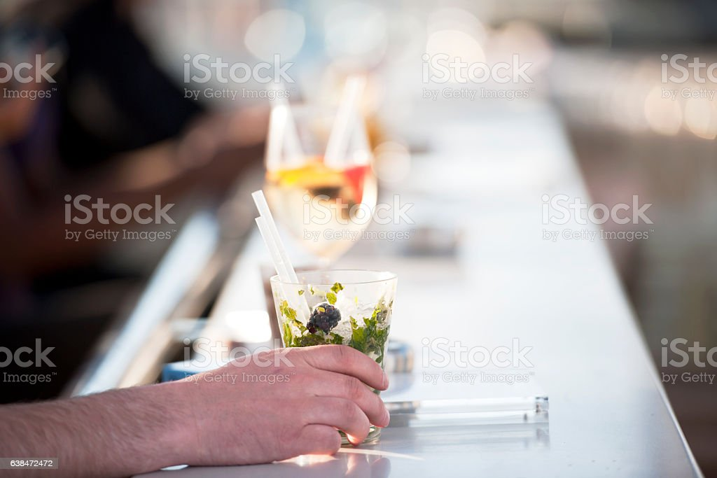 Making cocktail stock photo