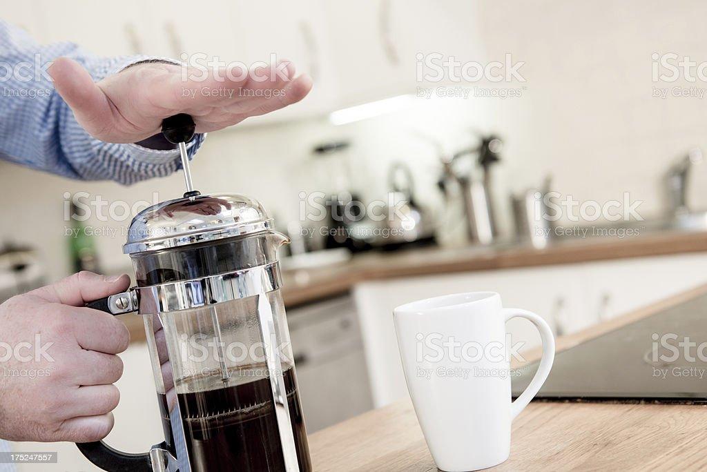 Making Coffee royalty-free stock photo