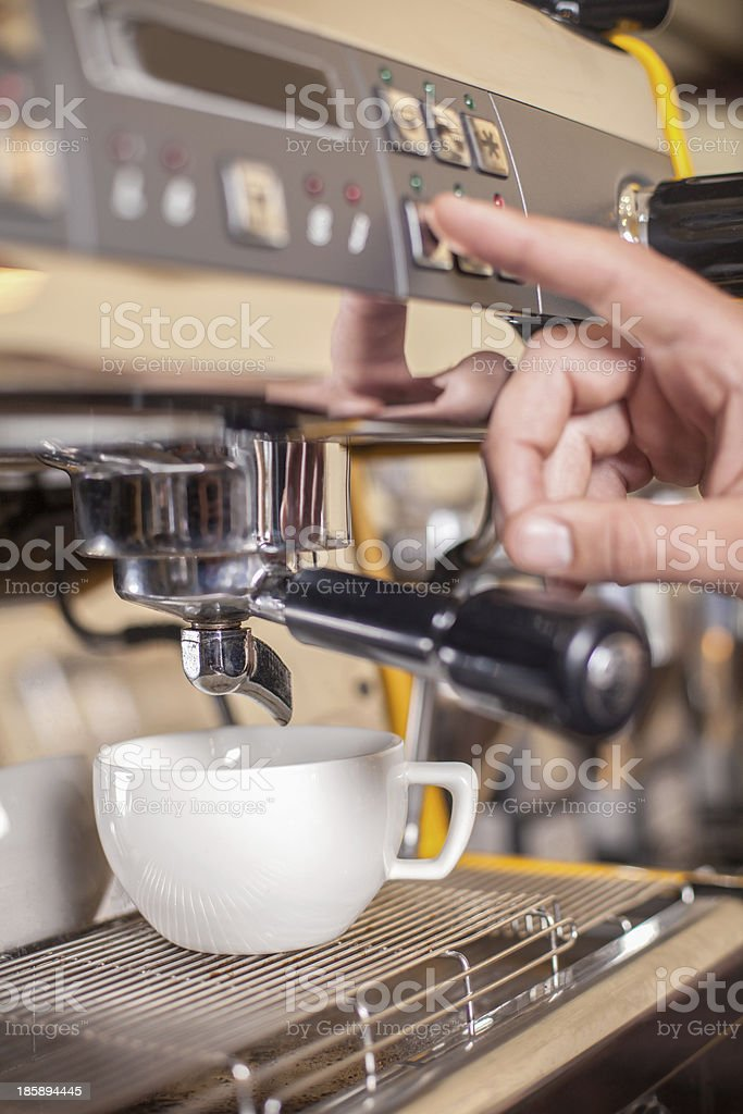 Making coffee. royalty-free stock photo