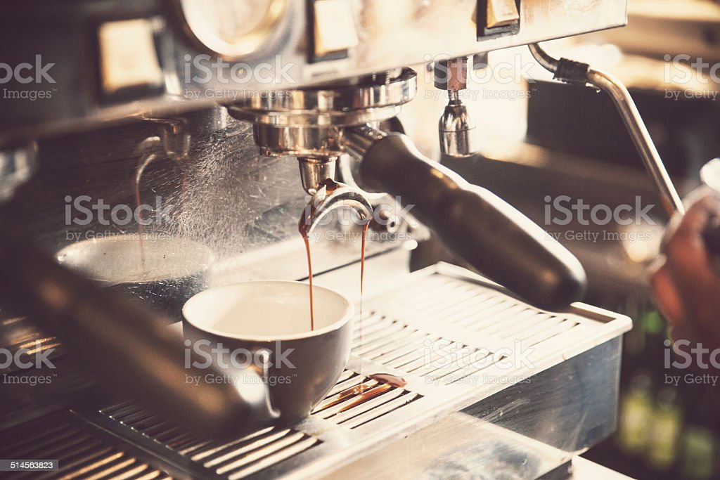 Making Coffee stock photo