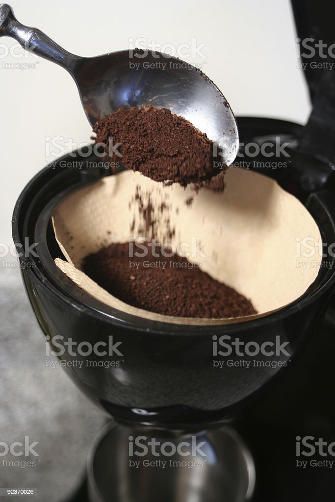 making coffee royalty-free stock photo