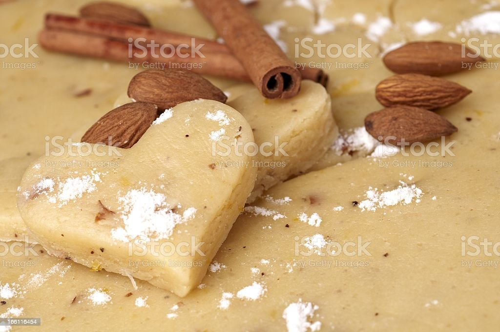 making cookie-heart shape royalty-free stock photo