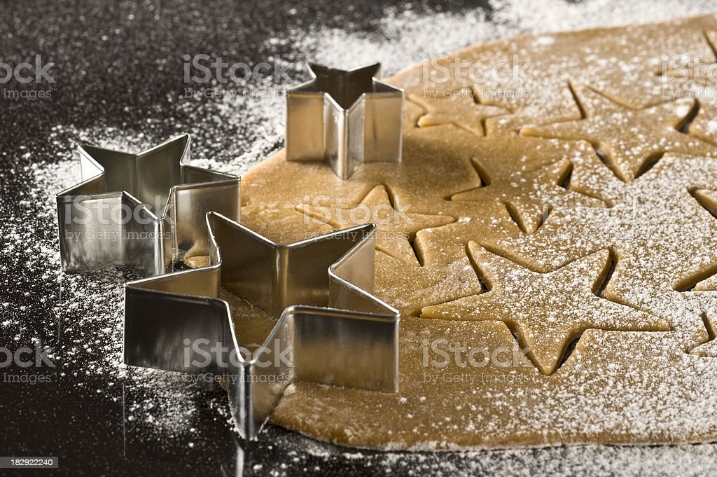 Making Cookies for Christmas royalty-free stock photo