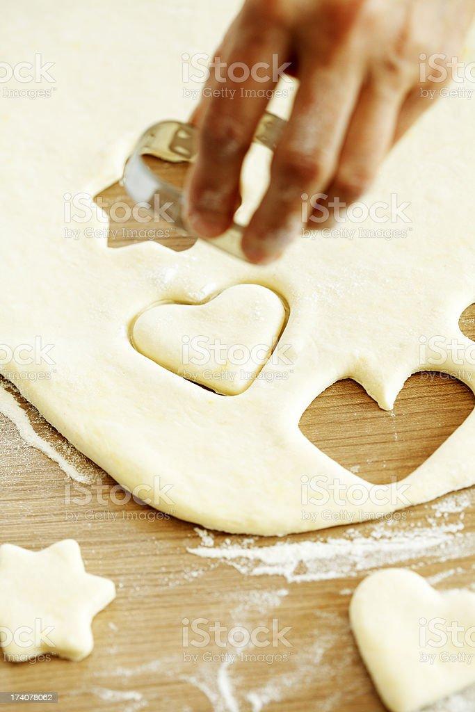 making cookies stock photo