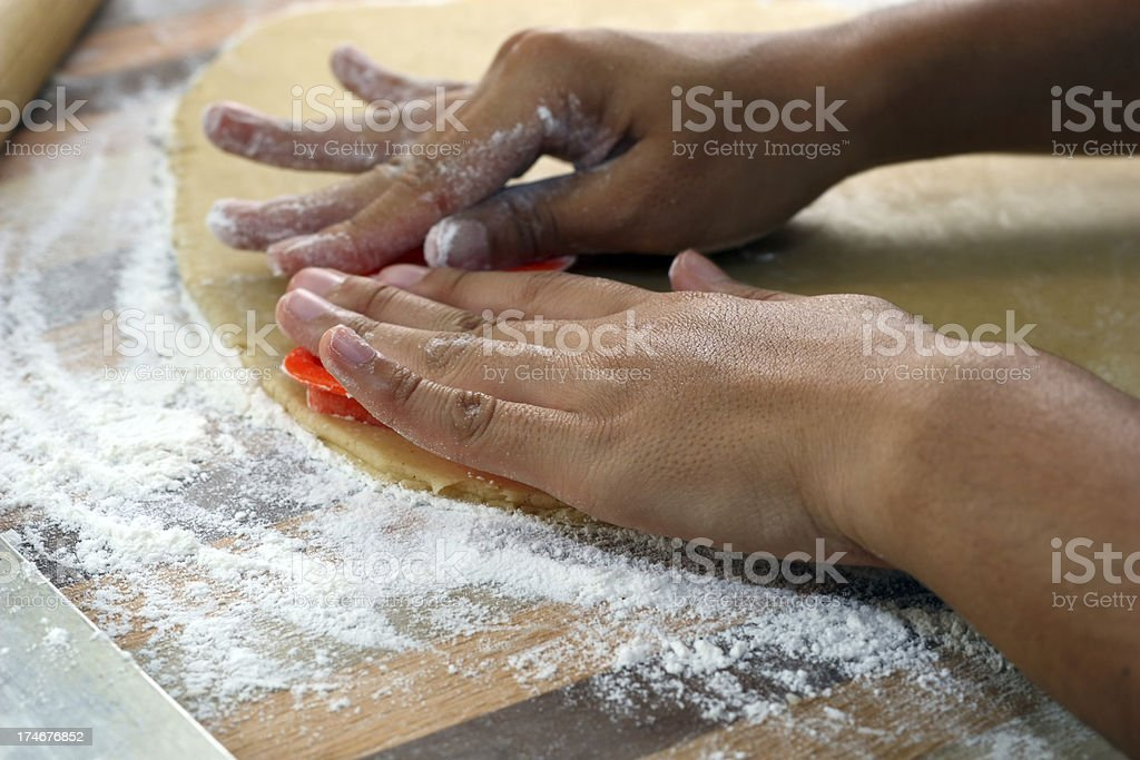 Making Cookies stock photo