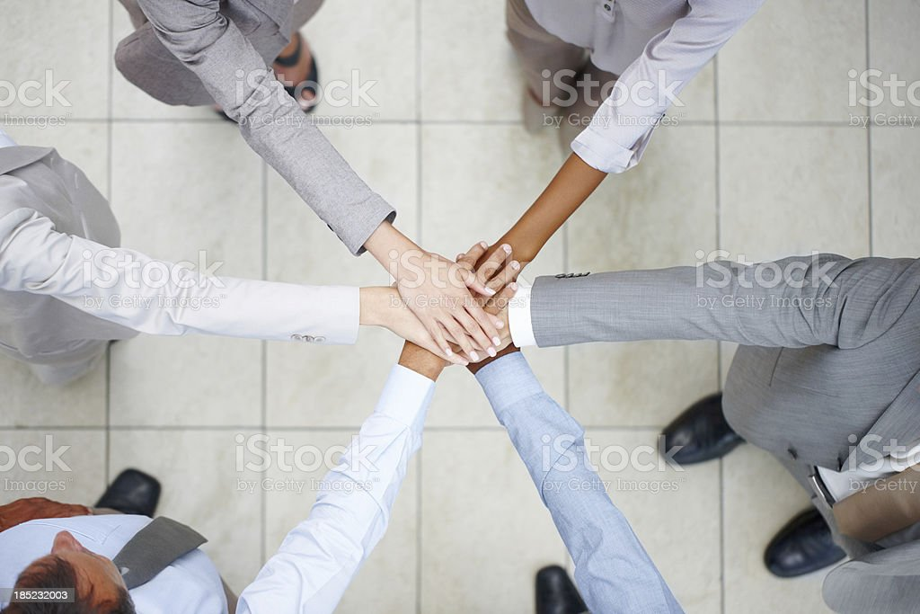 Making deals as a unit - Business teams royalty-free stock photo
