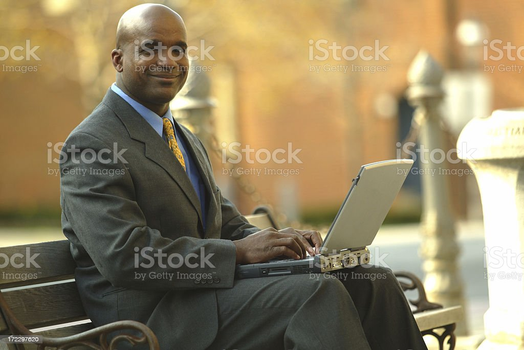 Making deals royalty-free stock photo