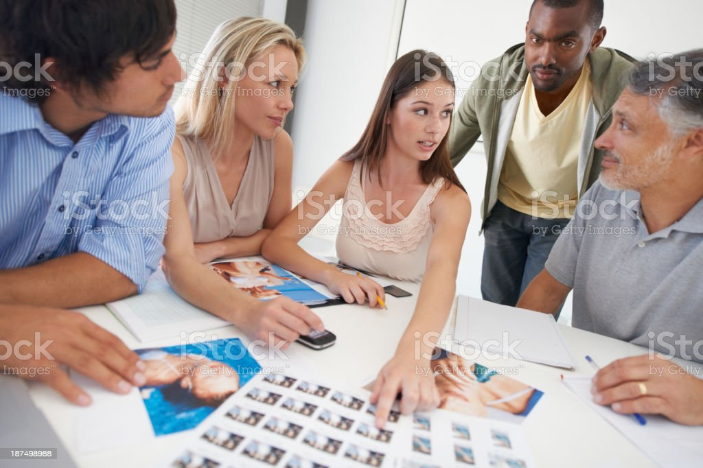 Making design decisions royalty-free stock photo