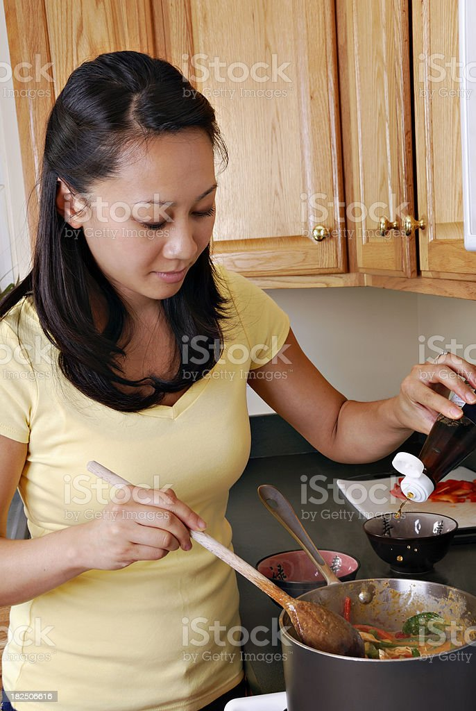 Making Dinner royalty-free stock photo