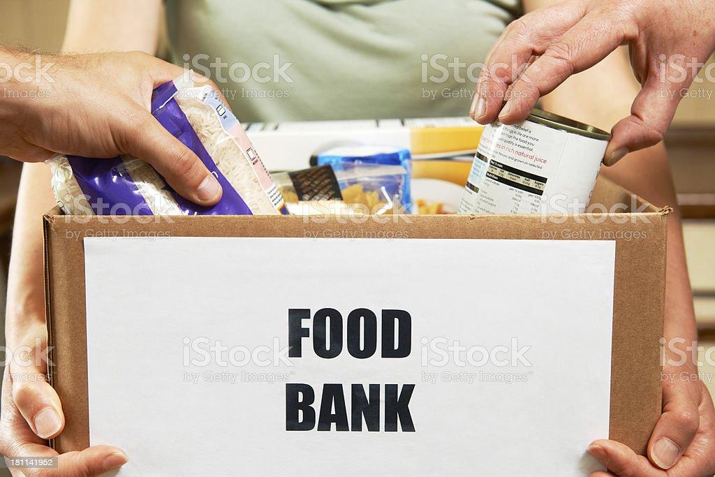Making Donations To Food Bank royalty-free stock photo