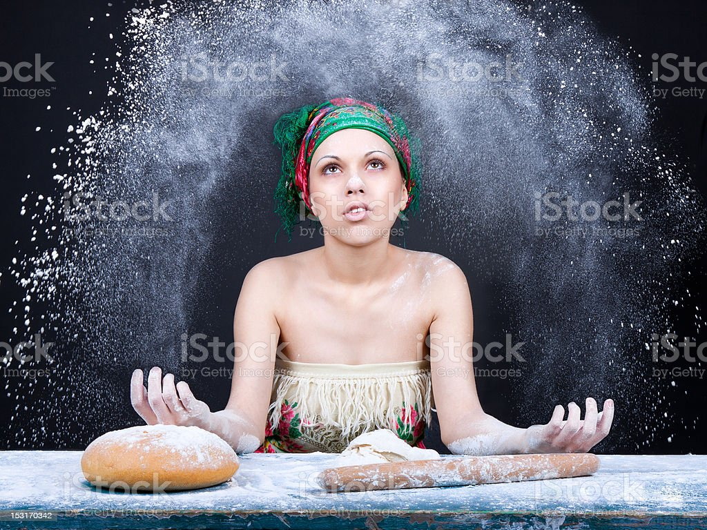 making dough concept royalty-free stock photo