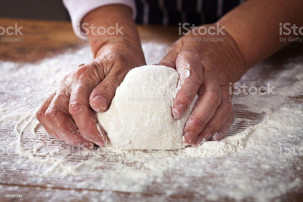 Making Dough royalty-free stock photo