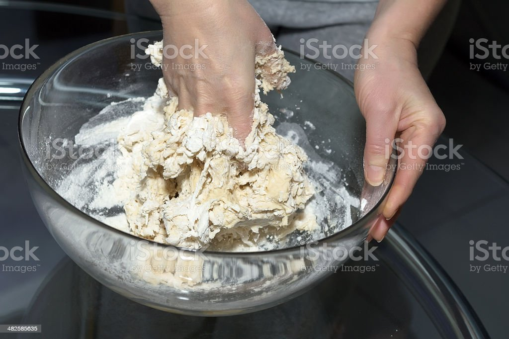 Making dough. Series. royalty-free stock photo