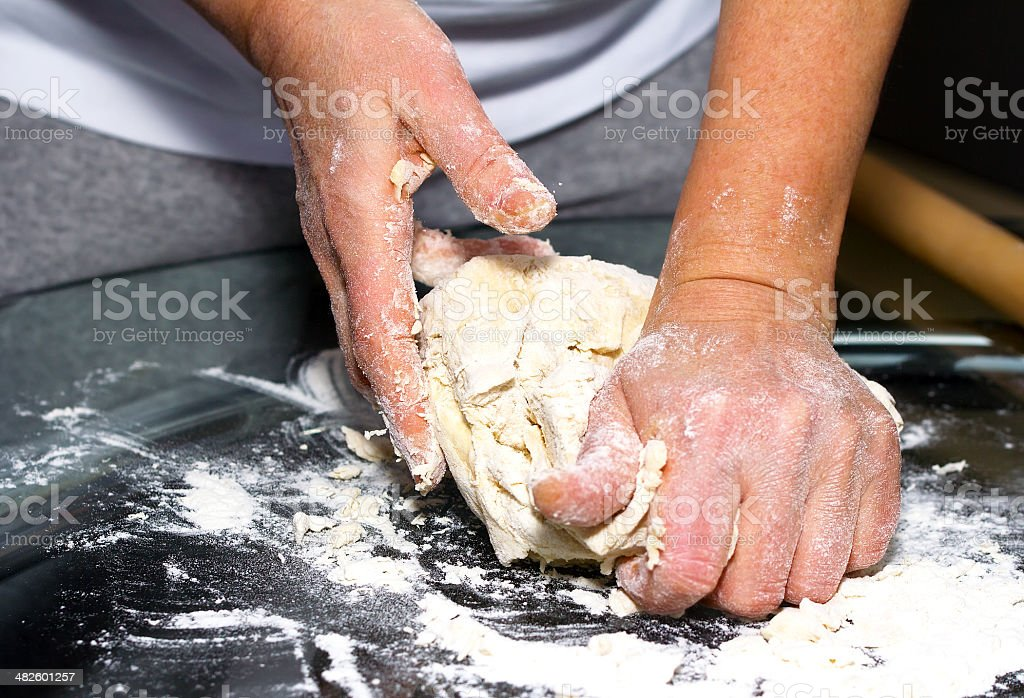 Making dough. Series. stock photo