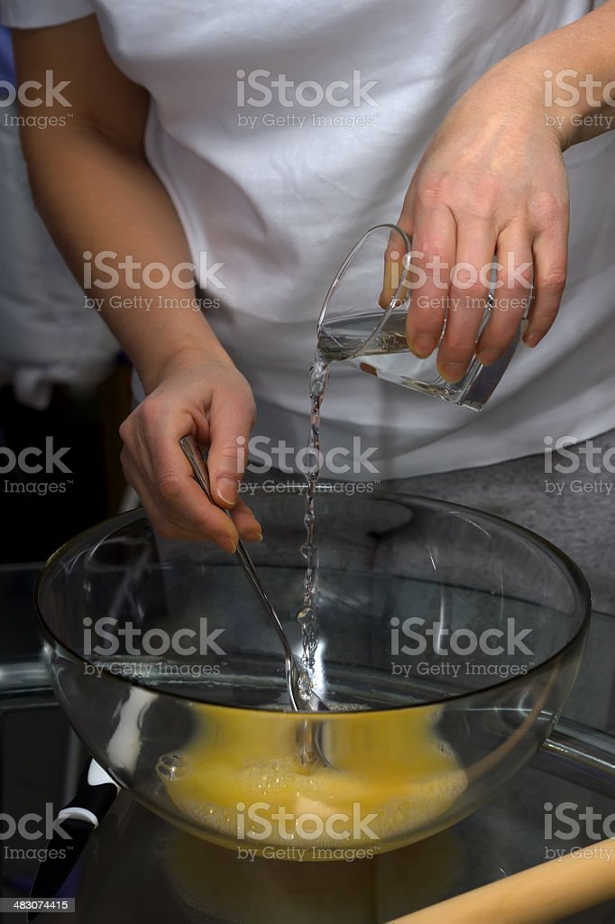 Making dough. Series. royalty-free stock photo