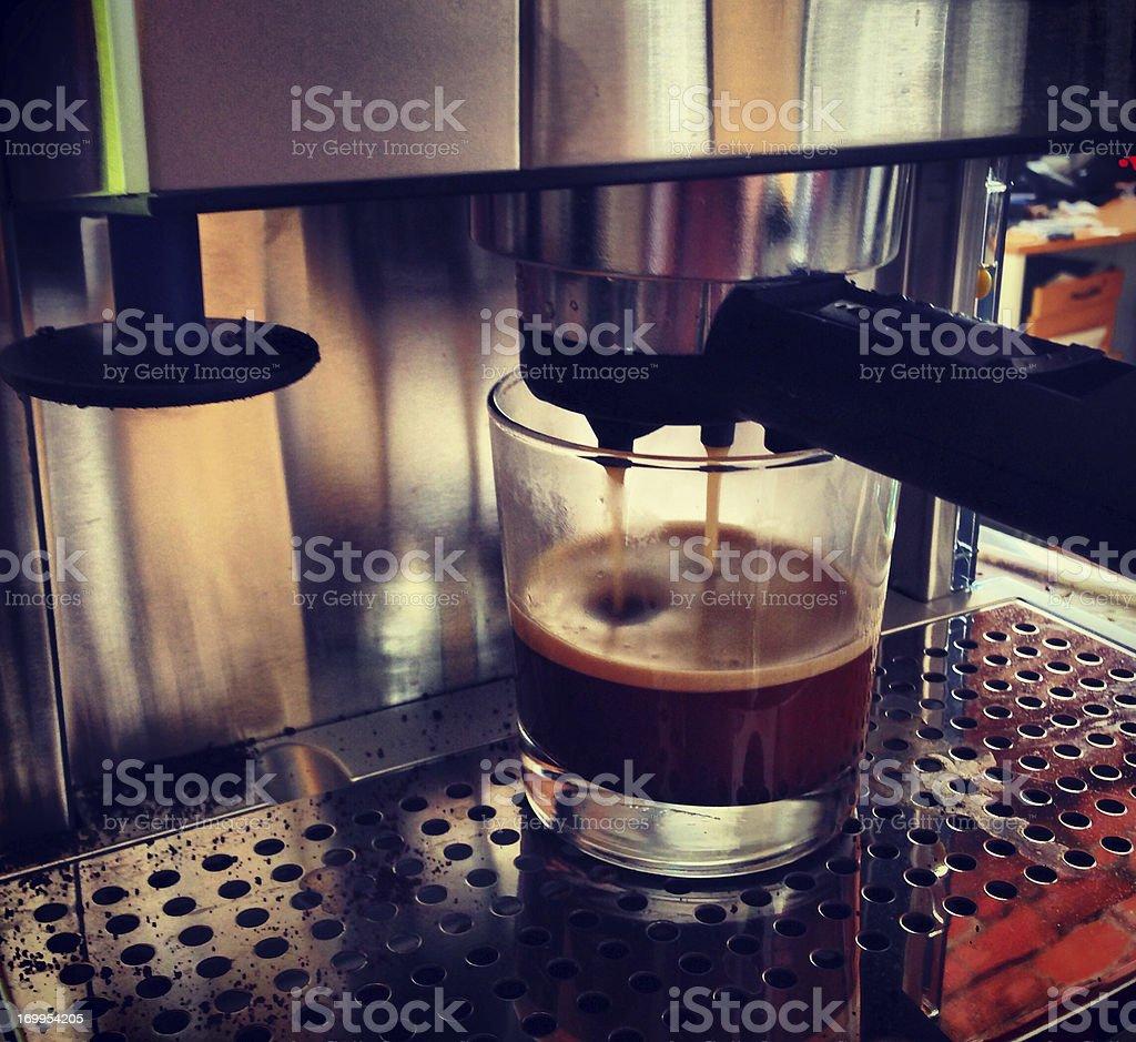Making Espresso (Mobilestock) royalty-free stock photo