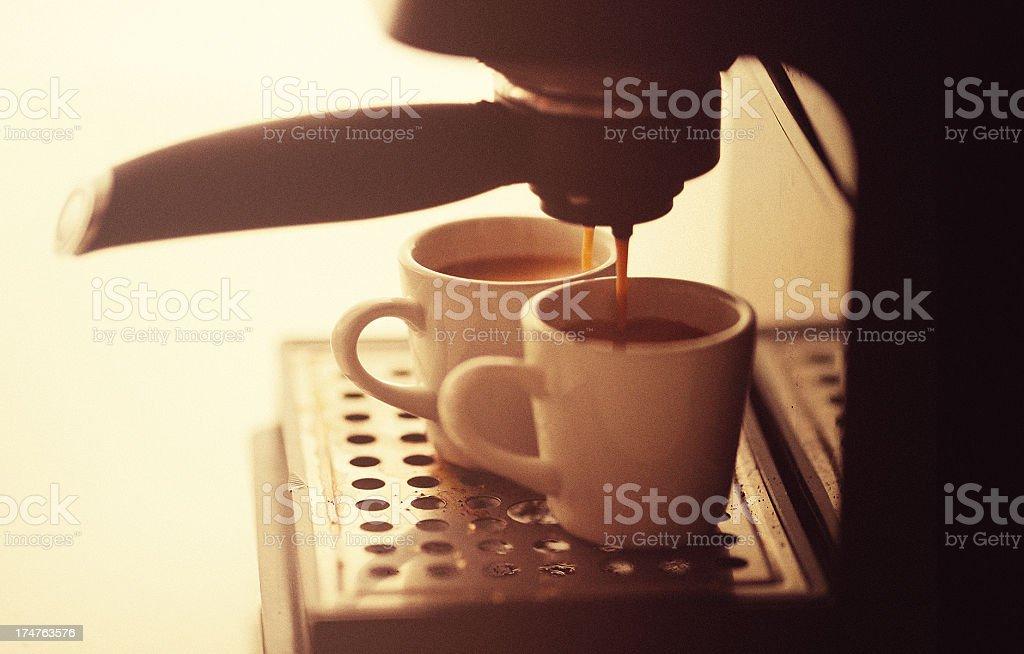 making espresso royalty-free stock photo