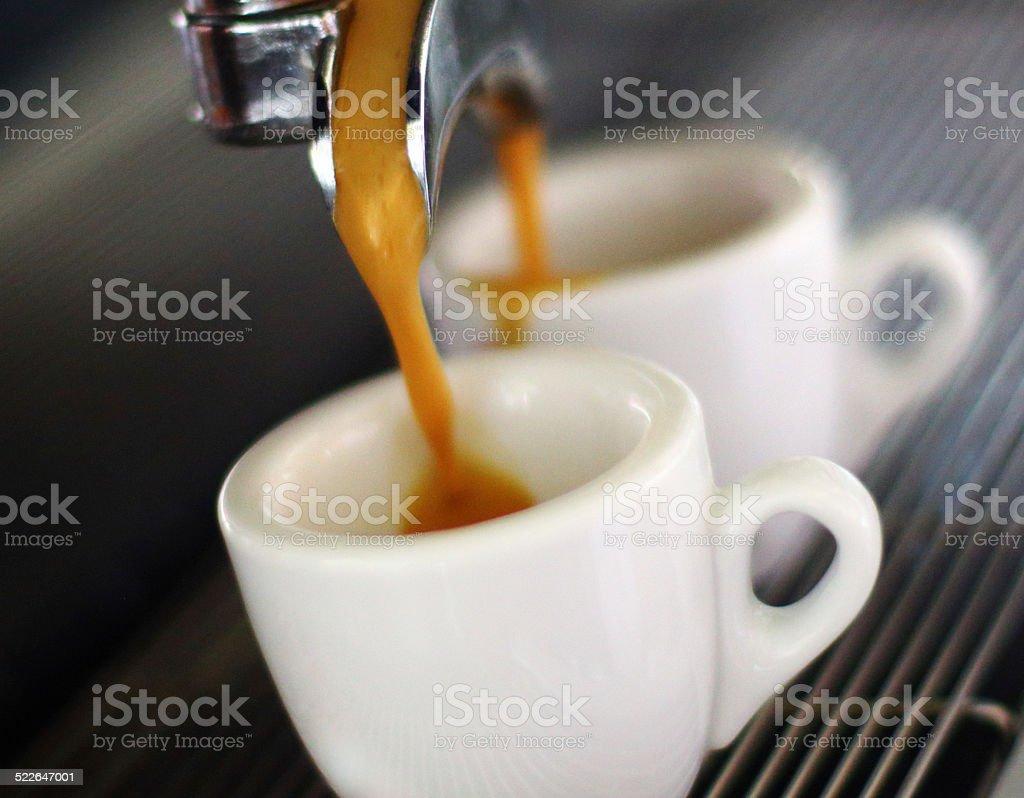 Making espresso. stock photo