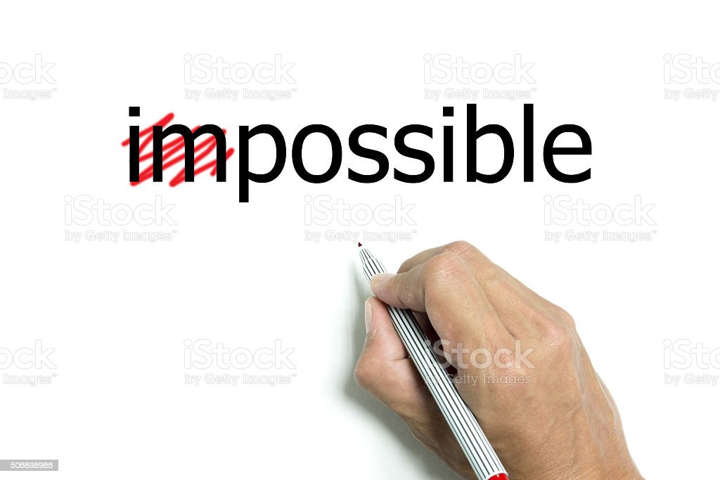 Making everything possible stock photo