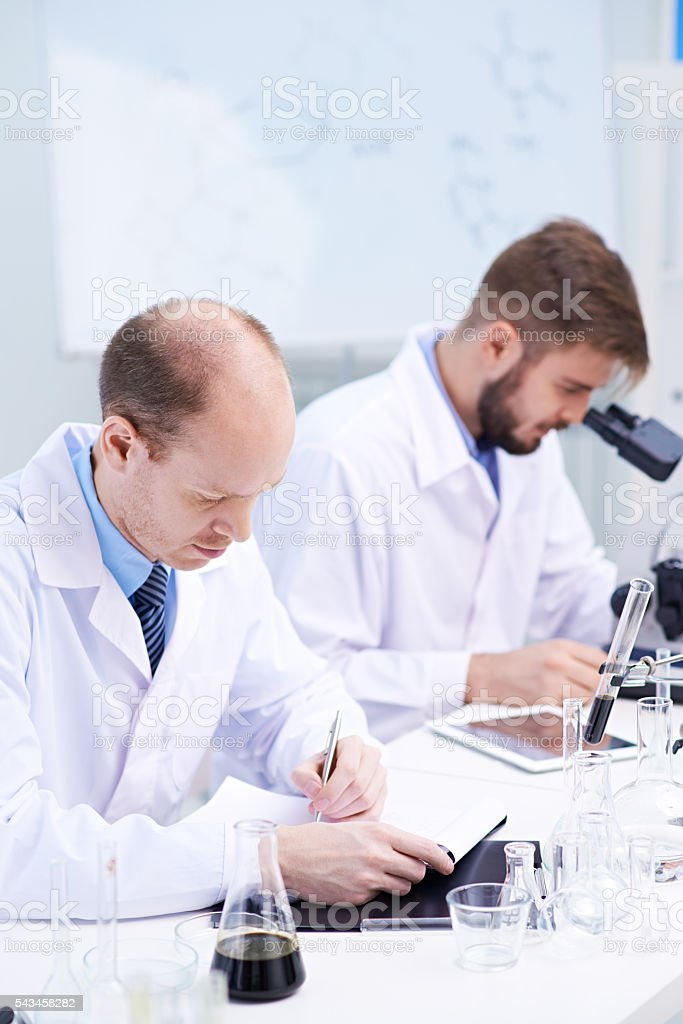 Making experiments stock photo