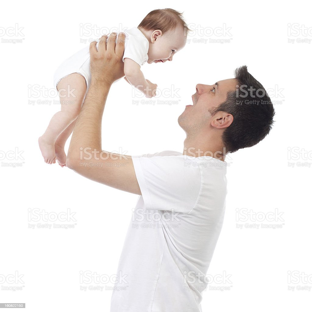 Making faces for baby royalty-free stock photo