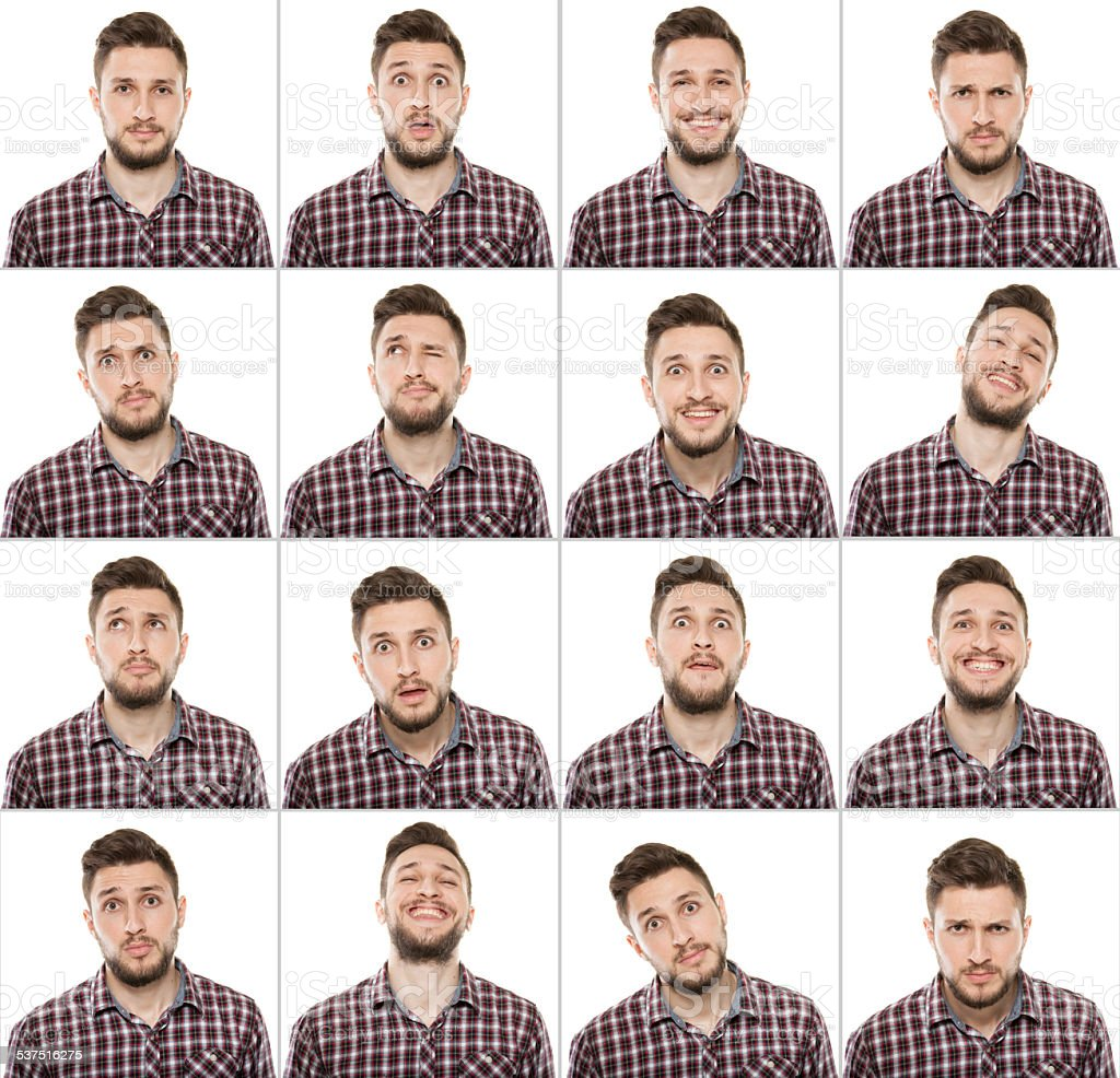 Making Facial Expressions stock photo