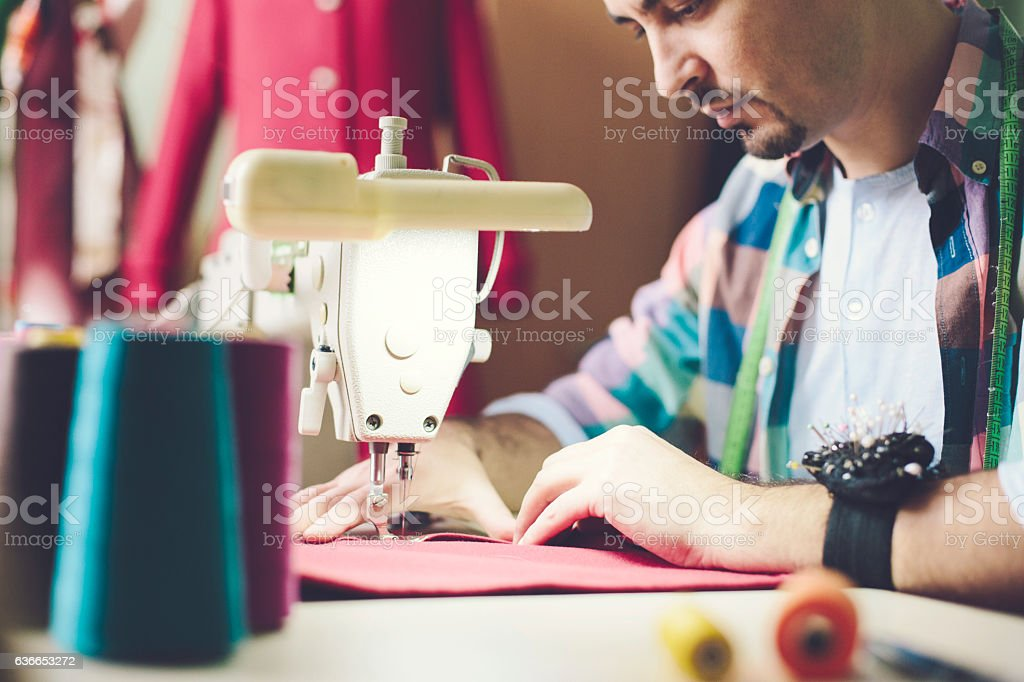 Making fashion stock photo