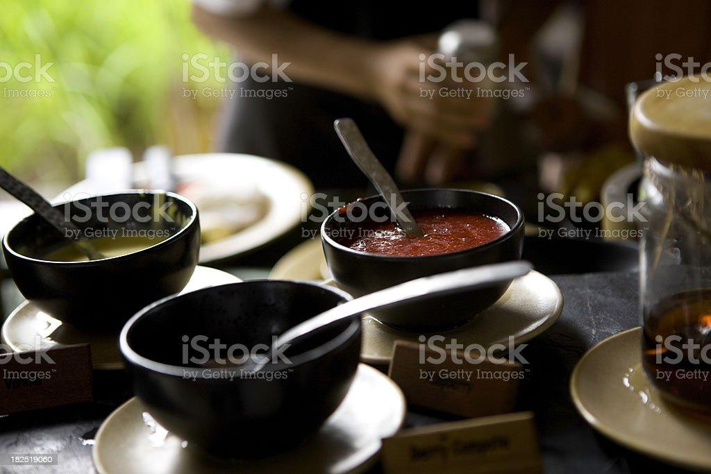 Making food stock photo