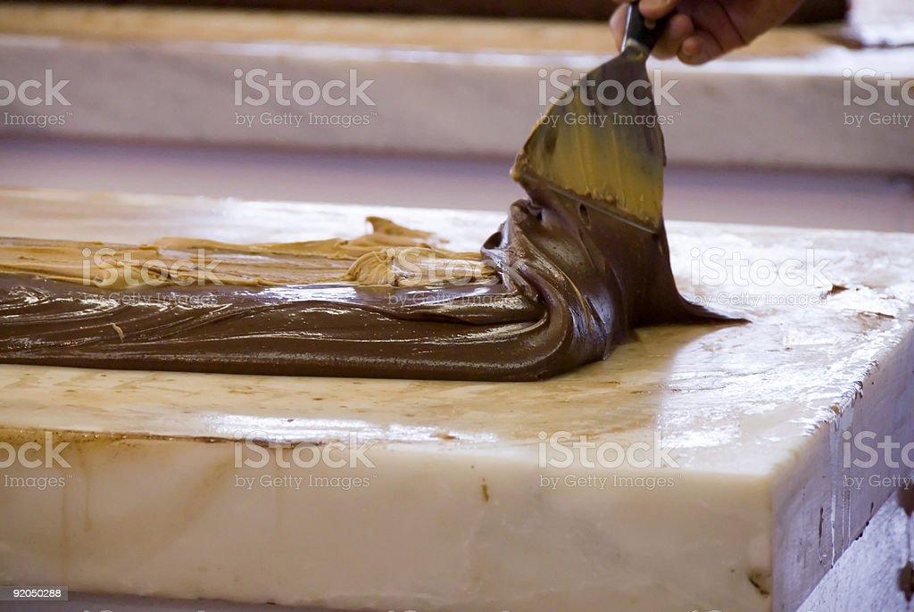 Making Fudge stock photo