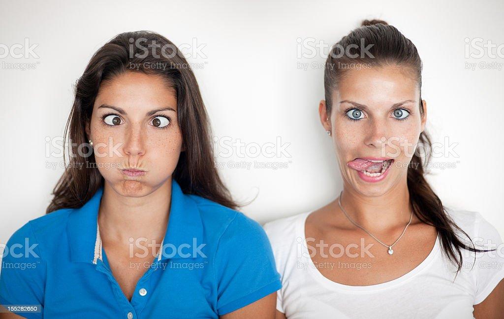 Making Funny Faces (XXXL) royalty-free stock photo