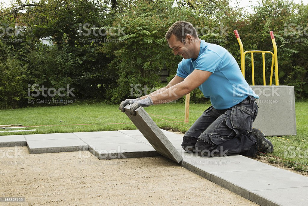 Making garden terrasse stock photo