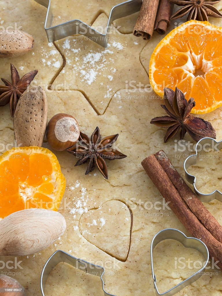making gingerbread royalty-free stock photo