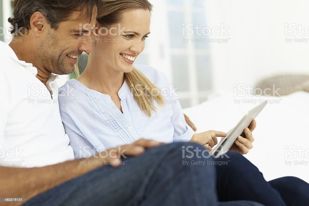Making good use of modern technology royalty-free stock photo