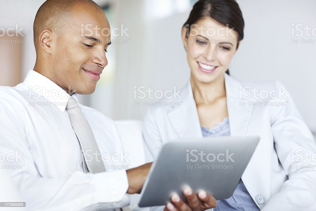 Making good use of new technology royalty-free stock photo