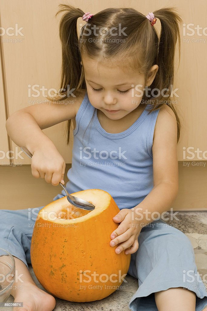 making halloween latern royalty-free stock photo