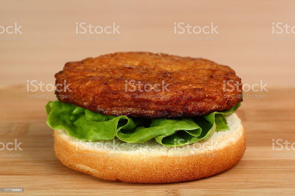Making Hamburger. Macro. Series royalty-free stock photo