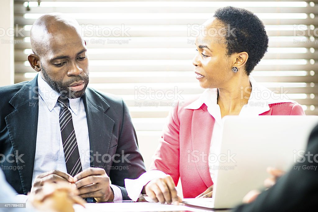 Making hard decisions together royalty-free stock photo