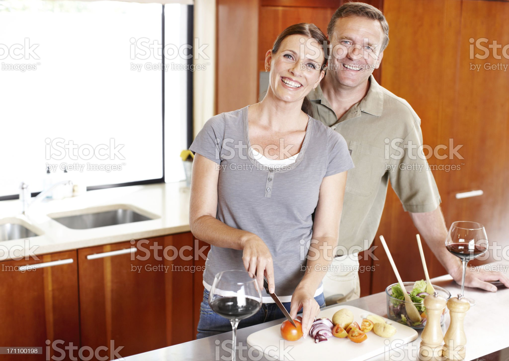 Making healthy diet choices royalty-free stock photo