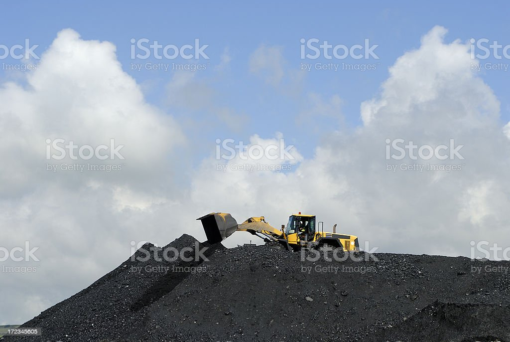 making heaps stock photo