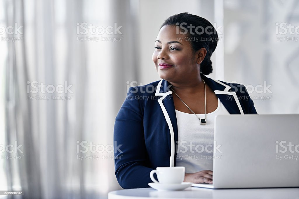 Making her own success story stock photo