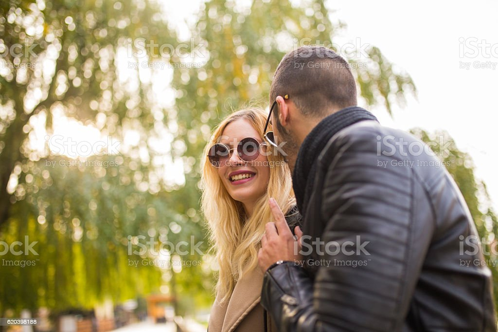 Making her smile stock photo