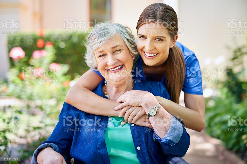 Making her stay as pleasant as possible stock photo