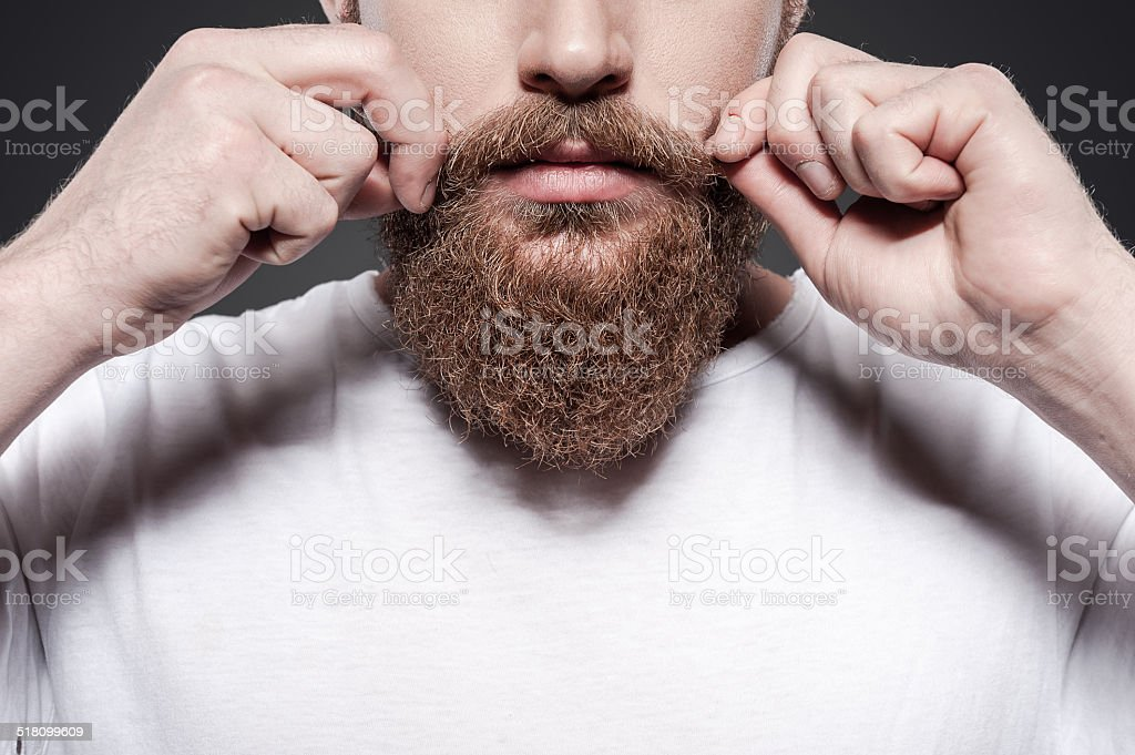 Making his own style. stock photo